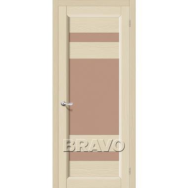 Межкомнатная дверь Леон Т-18 (Ваниль)