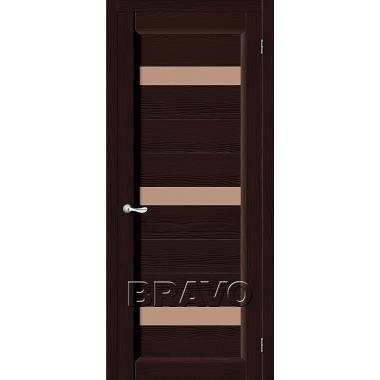 Межкомнатная дверь Леон Т-19 (Венге)