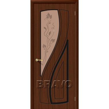 Межкомнатная дверь Лагуна Ф-17 (Шоколад)