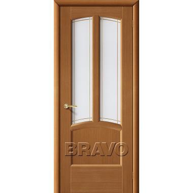 Межкомнатная дверь Ветразь ПО Ф-11 (Орех)