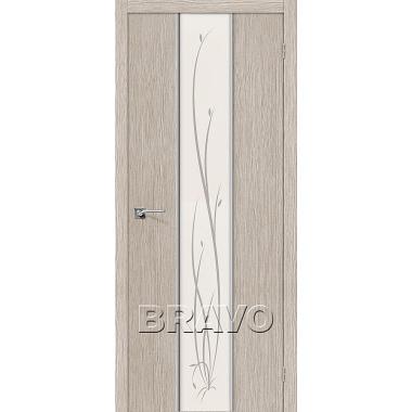 Межкомнатная дверь Глейс-2 Twig 3D Cappuccino