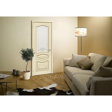 Межкомнатная дверь Леона Деко Д-15 (Ваниль)