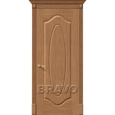 Межкомнатная дверь Аура Ф-02 (Дуб)