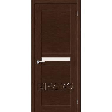 Межкомнатная дверь Евро-23 Ф-25 (Венге)